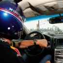 Former Formula One Driver David Coulthard drives a preview lap at Grand Prix of America at Port Imperial Course on June 11, 2012 in Weehawken, New Jersey