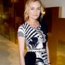 Diane Kruger Hits Up Paris Fashion Week's Versace Show