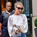 Rosie Huntington Whiteley in Jeans – Leaving her hotel in New York