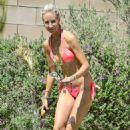 Lady Victoria Hervey in Bikini on the pool in Indio - 454 x 487