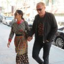 Salma Hayek and Francois-Henri Pinault are spotted out at a doctors office in Beverly Hills, California on August 29, 2016 - 436 x 600