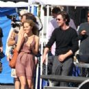 Christian Bale and Isabel Lucas film for their upcoming movie