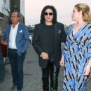 Gene Simmons And Shannon Tweed Are Seen Outside Avalon - 450 x 600