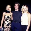 Lauren Holly, Jim Carrey and Cameron Diaz At The 1995 MTV Movie Awards