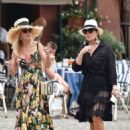 Kris Jenner in Black Dress on holiday on Portofino - 454 x 633