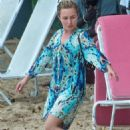 Hayden Panettiere in Summer Dress at the beach in Barbados - 454 x 681