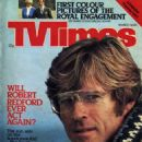 Robert Redford - TV Times Magazine Cover [United Kingdom] (13 March 1981)