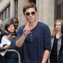 Zac Efron was seen leaving BBC Radio 1 in London this morning, April 24