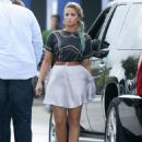 Demi Lovato was spotted in Miami, FL today, July 23. Demi is in town to continue auditioning people for the X Factor