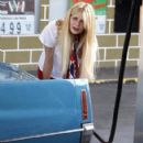Mischa Barton Getting Gas In West Hollywood
