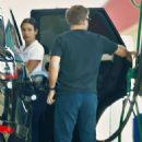 Lea Michele – Pumping gas in LA