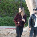 Alessandra Ambrosio & Family Out In Santa Monica - 416 x 600