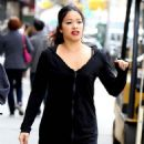 Gina Rodriguez – On the Set of 'Someone Great' in New York - 454 x 717