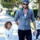 Gabriel Aubry continues to bond with Nahla and takes her to look at pet fish... as custody battle with ex Halle Berry rages on