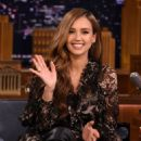 Jessica Alba Visits 'The Tonight Show Starring Jimmy Fallon'