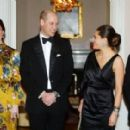 Prince Windsor and Kate Middleton attends a reception dinner at the British Ambassador's residence