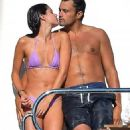 Victoria's Secret stunner Sara Sampaio flaunts her bikini body as she cosies up to boyfriend Oliver Ripley on £85million superyacht in St. Tropez - 454 x 818