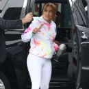 Jennifer Lopez – Arriving to the gym on a raining day in Miami