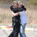 AnnaLynne McCord – Skydives for her charity Together1Heart in Santa Barbara - 454 x 626