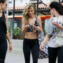AnnaLynne McCord in Tights and Sports Bra out in Malibu - 454 x 669