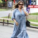 Kelly Brook – Seen at the Global Radio Studios – London