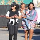 Blac Chyna and Kourtney Kardashian at The Pumpkin Patch in Los Angeles, California - October 14, 2016 - 454 x 617