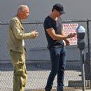 Alexander Skarsgard-March 27, 2014-Alexander Skarsgard Gets Lunch with Friends
