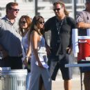 Lea Michele On Set Of Glee In Los Angeles