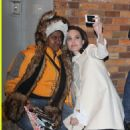 Angelina Jolie takes Selfies with her fans