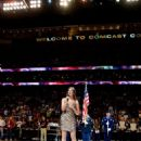 Ayla Brown - National Anthem before 76ers game, Wells Fargo Center, Philadelphia, PA, April 4, 2012 - 454 x 681