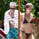 Selma Blair in Bikini at the pool in Miami - 454 x 681