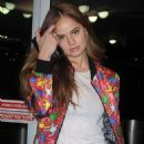 Debby Ryan – Arrives at JFK airport in NYC - 454 x 681