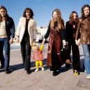 Ginger,David Gilmour,Nick Mason,Lindy Rutter,Juliette Gale and Rick Wright