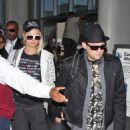 Paris Hilton And Benji Madden Arrive At LAX, 2008-05-07