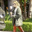 Ashley Benson in Red Tights Visits A Friend in LA