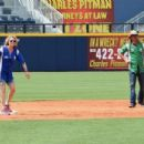 Deana Carter and Bret Michaels showed off their softball skills for charity at City of Hopes's 25th Annual Celebrity Softball Game at the new First Tennessee Park during CMA Music Festival in Nashville. - 454 x 302