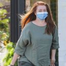 Alyson Hannigan – Visiting a salon in Beverly Hills
