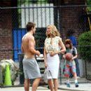 "Kim Raver - On The Set Of ""Lipstick Jungle"" With Robert Buckley, 28.06.2008."