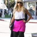 Paris Hilton filming an episode of her reality show in Hollywood, 24-01-11