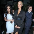 Amber Rose and Emily B at Bootsy Bellows nightclub in West Hollywood, California - June 26, 2014 - 454 x 681