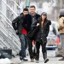 Megan Fox and Brian Austin Green - on the set of