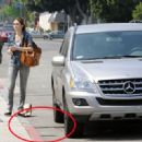 Emmy Rossum Fed The Meter Before Making Her Way Into Venice - 05/09/09