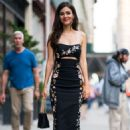 Victoria Justice in Print Dress – Out in New York