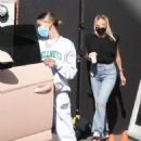 Hailey Bieber – Wearing comfy sweats in West Hollywood