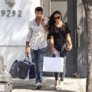Cara Santana and Jesse Metcalfe are seen shopping in Beverly Hills on July 21, 2015