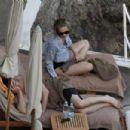 Leslie Bibb – Bikini on holiday on the Amalfi coast in Italy