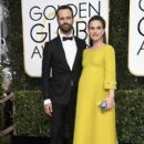 Natalie Portman and Benjamin Millepied : 74th Annual Golden Globe Awards - 400 x 600
