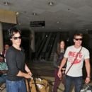 Ian Somerhalder and Nina Dobrev Departs from LAX Airport with the rest of TVD