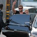 Liam Hemsworth arriving for his appearance on