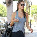 Alessandra Ambrosio Goes To Pilates Class In Santa Monica